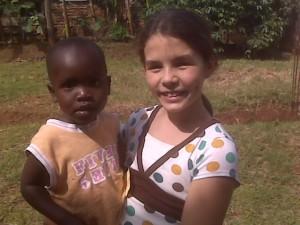Gracie in Uganda in 2008 at 10-years-old.